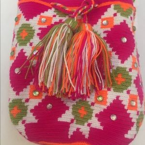 Handbags - WAYUU Bag Small handmade purse with rhinestones